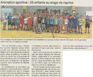 Stage Animation Sportive